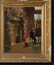 VAN HOVE Edmond (1851-1912). Huile sur toile