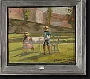 DENONNE Alexandre (1879-1953). Huile sur carton