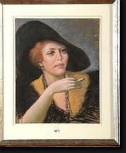 COLLON Jean Roch (1894-1951). Elégante à la