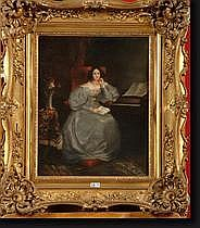 JOHANNOT Tony (1803-1852). Huile sur toile