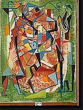 LITKEY György (1907-1975). Huile sur toile Le