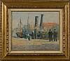 FRANK Lucien (1857 - 1920) Huile sur panneau