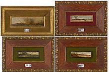 VAN DE KERKHOVE Fritz (actif 1862-1873) Ensemble de quatre huiles sur panne
