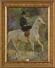 DETAILLE Edouard Jean Baptiste (1848 - 1912) Huile sur toile marouflée sur