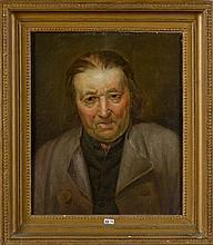 """HERREYNS Willem Jacob (1743 - 1827) Huile sur panneau de chêne """"Portrait d"""