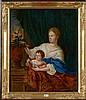 NETSCHER Caspar (1639 - 1684) Huile sur toile marouflée sur toile
