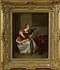 WILLEMS Florent (1823 - 1905) Huile sur toile marouflée sur toile