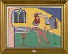 GENTILS Vic (1919 - 1997) - Huile sur panneau