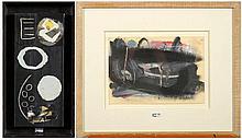 ZURSTRASSEN Yves (1956) - Huile sur toile marouflée sur panneau et colla