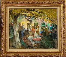 DE ROISIN Auguste (1889-?) - Huile sur toile