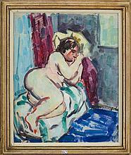 CLUYSENAAR John (1899 - 1986) - Huile sur papier
