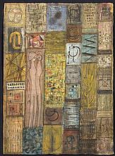 VAN DAMME Suzanne (1901 - 1986) - Peinture à l'oeuf sur papier