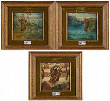 DE BRUYNE Gustaaf Cris (1914 - 1981) - Trois petites huiles sur panneau