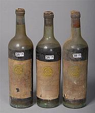 5 bouteilles : Château d'Yquem, Sauternes, 1918. Mise en bouteille Vanderm