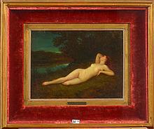 HENNER Jean Jacques (1829 - 1905) - Huile sur panneau d'acajou