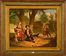 GARNET (?) A. (XIXème) - Huile sur toile