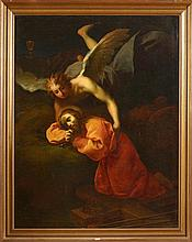 IL CARAVAGGIO (1570 - 1610) - Huile sur toile marouflée sur toile
