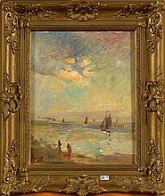 STEVENS Alfred (1823 - 1906) - Huile sur panneau d'acajou