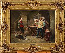 GONTIER Louis (XIXème-XXème) - Huile sur toile marouflée sur toile