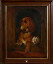 STEVENS Joseph Edouard (1819 - 1892) - Huile sur toile marouflée sur toi