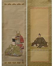 KAZAN Watanabe (1793 - 1841), SOKEN Yamaguchi (1759 - 1818) - Deux kakém