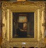 VAN HOVE Hubertus (1814 - 1865) - Huile sur panneau de chêne