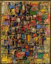 FALCHI Ettore (1913 - 1997), Technique mixte sur toile