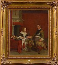 TER BORCH Gérard (1617 - 1681), Huile sur toile marouflée sur toile