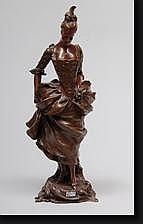BRUYNEEL Victor (1859-?). Elégante en bronze à
