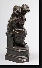 PICKERY Gustave (1862-1921). Vieille femme et son