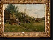 ELLE Edouard (1859-1911). Huile sur toile