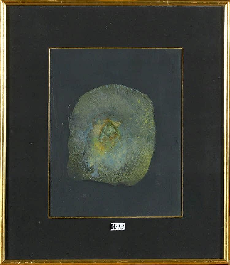 BENTIN Louise (1903 - 1998) Huile sur papier