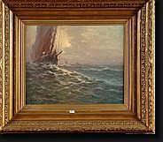 DEVOS Albert Isidore (1868-1950). Huile sur