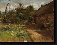 DEN DUYTS Gustave (1850-1897). Huile sur toile