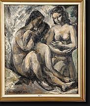 VAN MONTFORT Franz (1889-1980). Huile sur toile