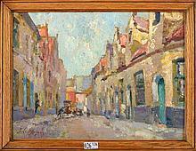 LE MAYEUR de MERPRES Jean Adrien (1880 - 1958) Huile sur panneau