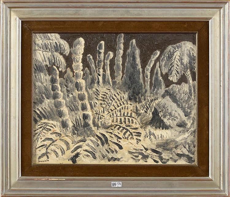 Savinio Alberto 1891 1952 Huile Sur Toile Jardin Exotiq