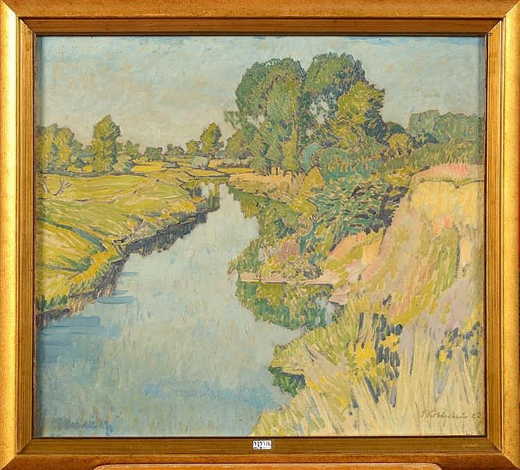 KOHLSCHEIN Josef II (1884 - 1958) Huile sur toile