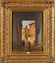 BOSSUET François Antoine (1798 - 1889) Huile sur panneau d'acajou