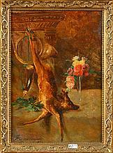 HUYGENS François (1820 - 1908) Huile sur toile marouflée (?) sur toile