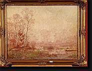 CARON Joseph (1866-1944). Huile sur toile