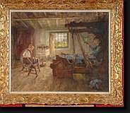 DIERCKX Pierre Jacques (1855-1947). Huile sur