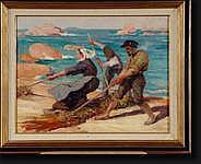 POREAU Oswald (1877-1955). Huile sur toile