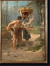 STALLAERT Joseph (1825-1903). Huile sur toile