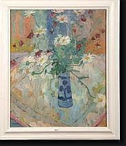 DE BEER Gaston (1890-1953). Huile sur toile