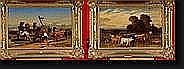 DE PRATERE Edmond (1826-1888). Paire d'huiles sur