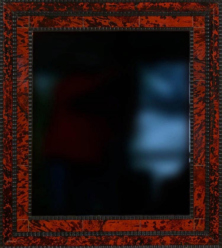 Miroir rectangulaire en b ne bois noirci placage d 39 caill for Miroir rouge