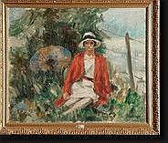 BIERAND Georges (1895-?). Huile sur toile