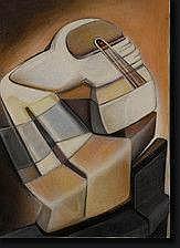 JUNG Simonetta (1917-2005). Acrylique sur toile