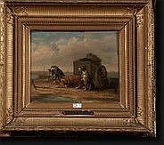 MOERENHOUT Edward (1801-1893). Huile sur panneau